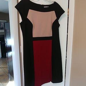 Ponte color block dress by Dress Barn